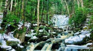 The Fletcher's Cascade Trail Trail In New Hampshire Is A 3.2-Mile Out-And-Back Hike With A Waterfall Finish