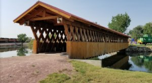 The Longest Covered Bridge In South Dakota, Edgemont City Park Bridge, Is 120 Feet Long