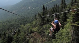 Take A Ride On The Longest Zipline In Vermont At Spruce Peak