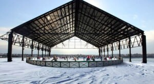 Enjoy The Magic Of Winter By Visiting This 10,000 Square Foot Ice Skating Rink In Maine