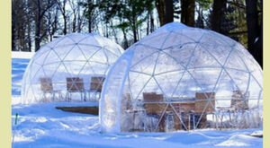 Enjoy A Night Of Ice Skating And Snow Globe Dining At Maine's Own Pineland Farms