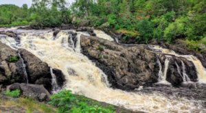 Take A Magical Waterfall Hike In Minnesota To Kawishiwi Falls, If You Can Find It