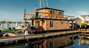 You Can Make This Charming House Boat Your Temporary Home In Rhode Island