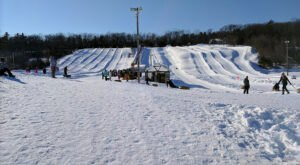 With 10 Lanes, Maine's Largest Snowtubing Park Offers Plenty Of Space For Everyone