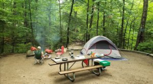 Named The Best Campground In New Hampshire, Lafayette Place Needs To Be On Your Spring Bucket List