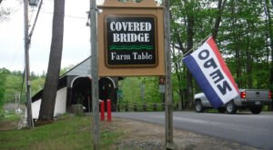 Overlooking One Of New Hampshire's Most Beautiful Covered Bridges, This Restaurant Is A True Delight