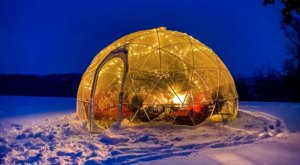 Sip Mulled Wine Inside A Private, Heated Igloo At Cave Ridge Vineyard in Virginia