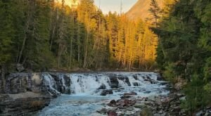 The Johns Lake Loop Trail In Montana Is A 2-Mile Loop Hike With A Waterfall Finish