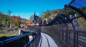 Love Locks Adorn This Unique Appalachian Trail Footbridge In West Virginia
