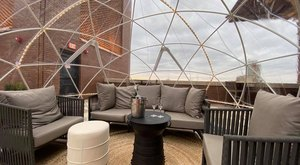 Stay Warm And Cozy This Season At Rioja Terrace, A Rooftop Igloo Bar In Texas