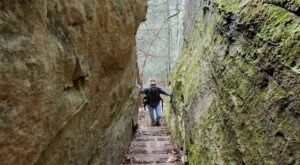 Walk Between Rocky Walls To An Incredible Overlook On This Short Hiking Trail In Kentucky
