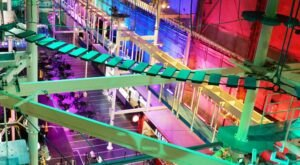 The World's Largest Indoor Ropes Course Is Right Here In Connecticut At It Adventure Ropes Course