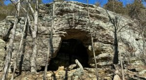 You Will See The Most Interesting Rock Formations Along The Whiskey Cave Trail In Illinois