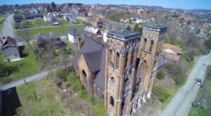 What This Drone Footage Captured At This Abandoned Pittsburgh Church Is Truly Grim