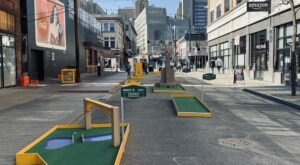 Play A Free Round Of Mini Golf At This Pop-Up Course On Oakland Avenue In Pittsburgh
