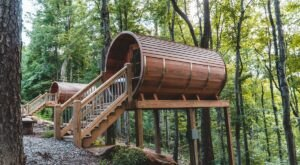 Melt Your Stress Away In A Barrel-Shaped Sauna Pod In The Heart Of Ohio's Hocking Hills