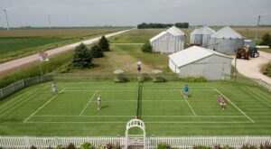 Practice Your Serve On Iowa's Only Grass Tennis Court That's Just Like Wimbledon