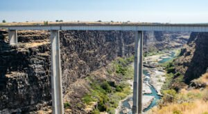 Check Out The Stomach-Dropping View Of The Snake River Canyon From The Historic Hansen Bridge In Idaho