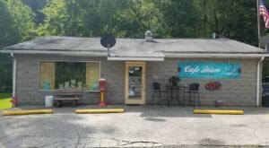 A Local Favorite, Try The Coal Miner Burger At Cafe Diem In West Virginia
