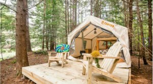 New Hampshire's New Glampground Getaway, Snug Life Camping Is Truly One-Of-A-Kind