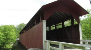 One Of The Longest Covered Bridges In Pennsylvania Is 136 Feet Long And Near Pittsburgh