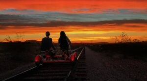 Ride The Rails Into The Sunset On This Fireside Twilight Tour From Rail Explorers In Nevada