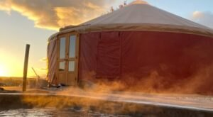 Enjoy Your Own Private Geothermal Pool At This Riverside Yurt In Idaho