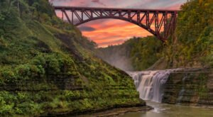 Letchworth State Park: Revel In The Beauty Of A Three-Tiered Waterfall In The 'Grand Canyon Of The East'