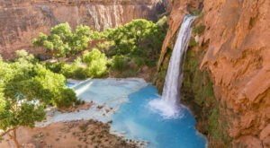 A Waterfall Lover's Dream, The Confluence from Havasupai Campground Hike In Arizona Passes Cascade After Cascade