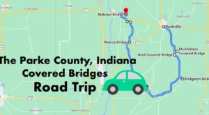 Hop In The Car And Visit 8 Of Indiana's Covered Bridges In One Day