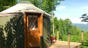 Spend The Night In An Airbnb That's Inside An Actual Mountainside Yurt Right Here In New Hampshire
