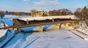 One Of The Longest Covered Bridges In Michigan Is 239 Feet Long And Near Detroit