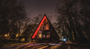 This Secluded A-Frame Cabin In New Jersey Will Make For A Picture-Perfect Getaway In the Woods