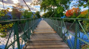 The Milford Swing Bridge In New Hampshire Will Make Your Stomach Drop