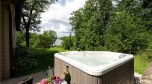 Soak In A Hot Tub Surrounded By Natural Beauty At This Cottage Near Detroit