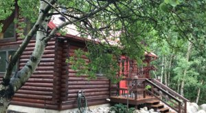 Soak In The Hot Tub At Your Own Private Sanctuary At This Log Cabin In Montana