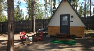 Escape To The Mountains At This A-Frame Cabin Campground In Stanley, Idaho