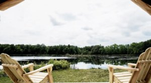 Go Glamping Next To Your Own Private Swimming Pond At This Unique Campground