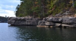 Enjoy Sandy Beaches And Rock Outcroppings At Big Hill Lake Beach In Kansas