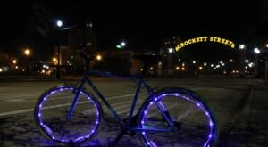 Take A Lighted Bike Tour Through Downtown Beaumont With Spindletop Cruisers In Texas
