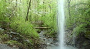 Hike Three Miles To Stand Behind Sixty Foot Falls In Arkansas
