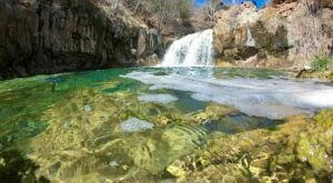Hike To An Emerald Lagoon On The Easy Fossil Creek Waterfall Trail In Arizona