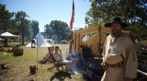 Experience Life In The 1800s At The Spring Traders Encampment At Woolaroc In Oklahoma