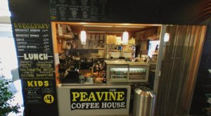 Enjoy A Good Book And A Steaming Cup Of Joe At Peavine Coffee House, A Library Coffee Shop In Arizona