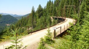 Pass Through Tunnels And Over Sky-High Bridges On The Route Of The Hiawatha In Idaho