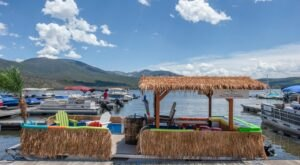 Turn Colorado's Grand Lake Into Your Own Oasis By Renting A Motorized Tiki Bar