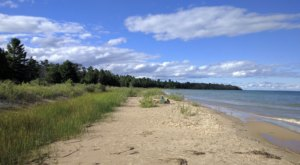 The Hidden Negwegon State Park Beach Features Some Of The Most Vibrant Waters In Michigan