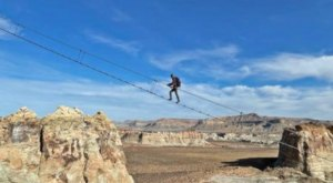 This Ladder In The Sky Is 400 Feet Above The Utah Desert, And You Only Have To Be Ten Years Old To Climb It