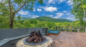Sit In A Jacuzzi With Endless Mountain Views At This Log Cabin Airbnb In Georgia