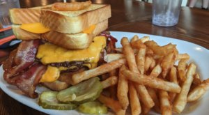 Served Between Two Grilled Cheese Sandwiches, The Holy Cow Burger In Idaho Means Business